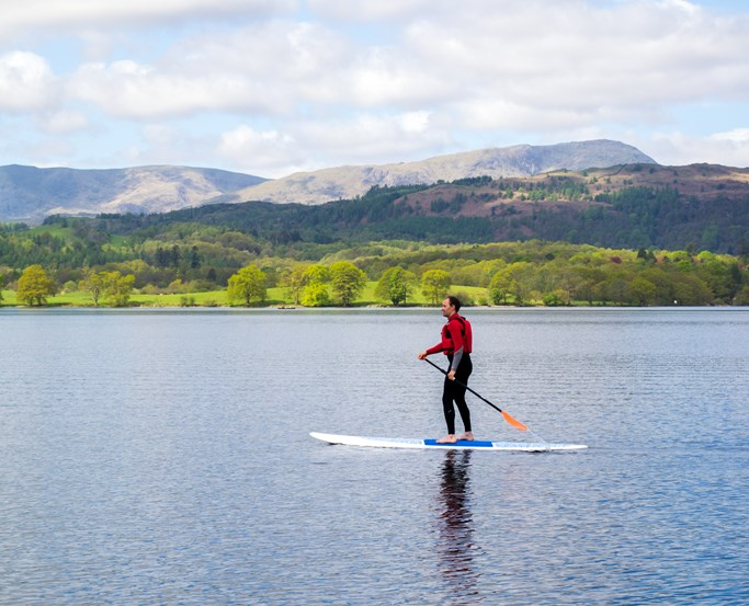 Learn how to Paddleboard with Low Wood Bay Watersports