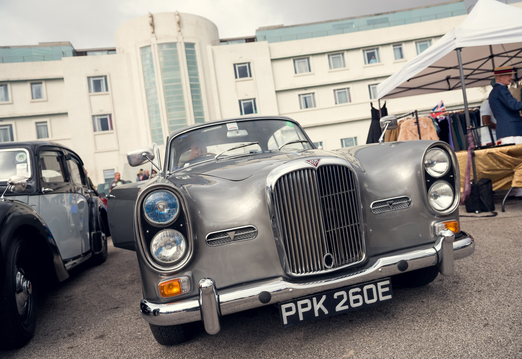 Vintage car at the Midland Hotel event, Vintage by the sea