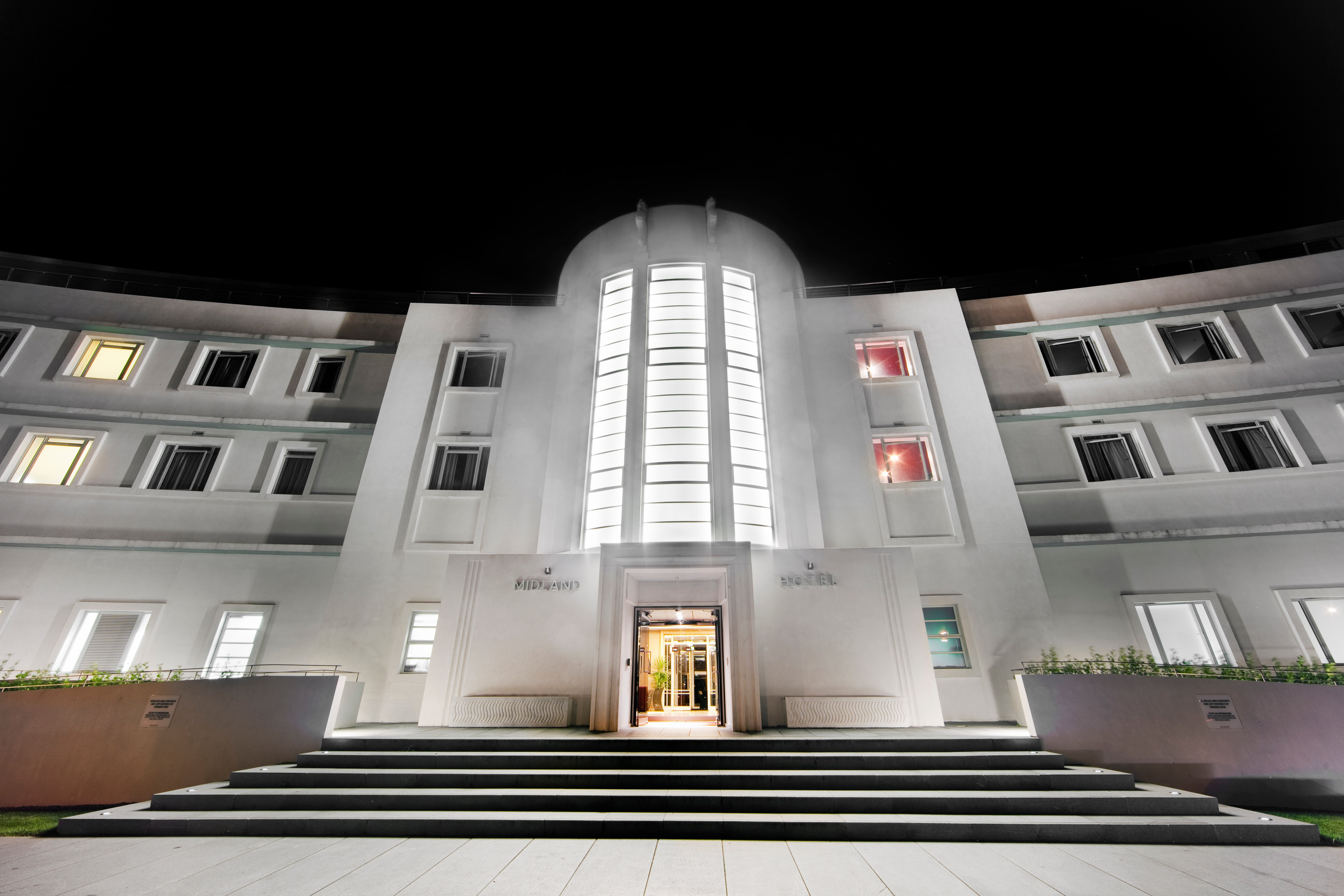 Entrance of the Midland Hotel, Morecambe