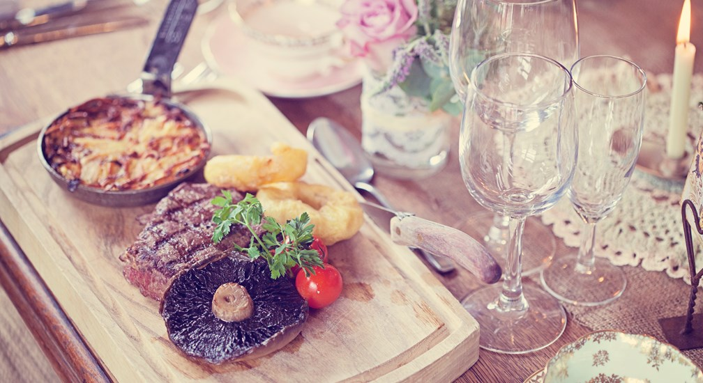 Steak Wedding Breakfast - Weddings at The Wild Boar