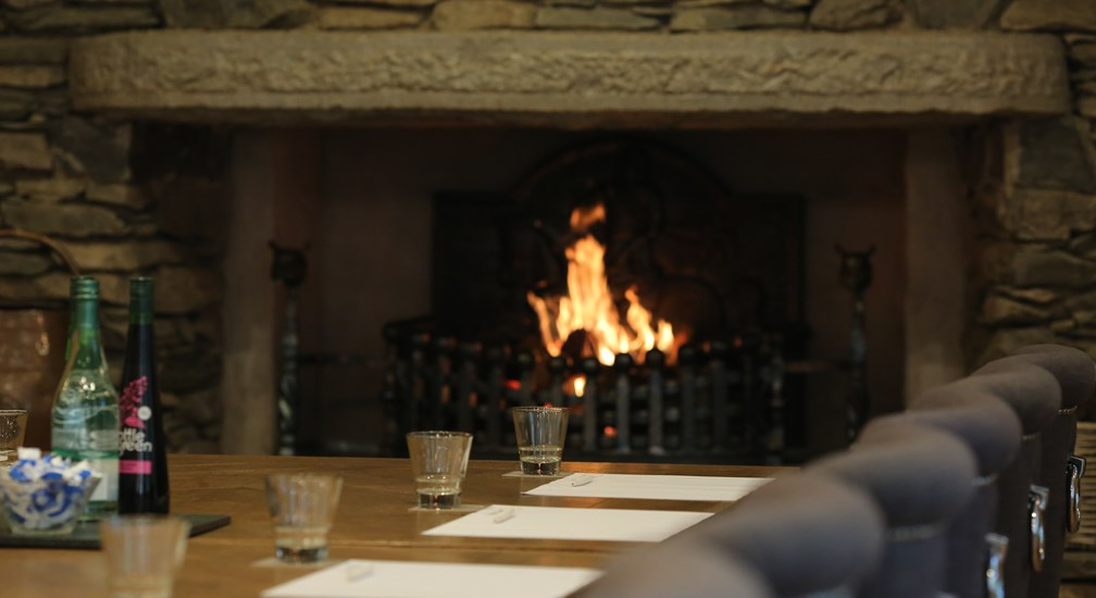 Open fire in the Undermill Beck conference room