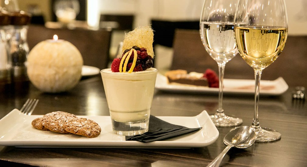 Sample dessert at the Foodworks Restaurant, Lancaster House