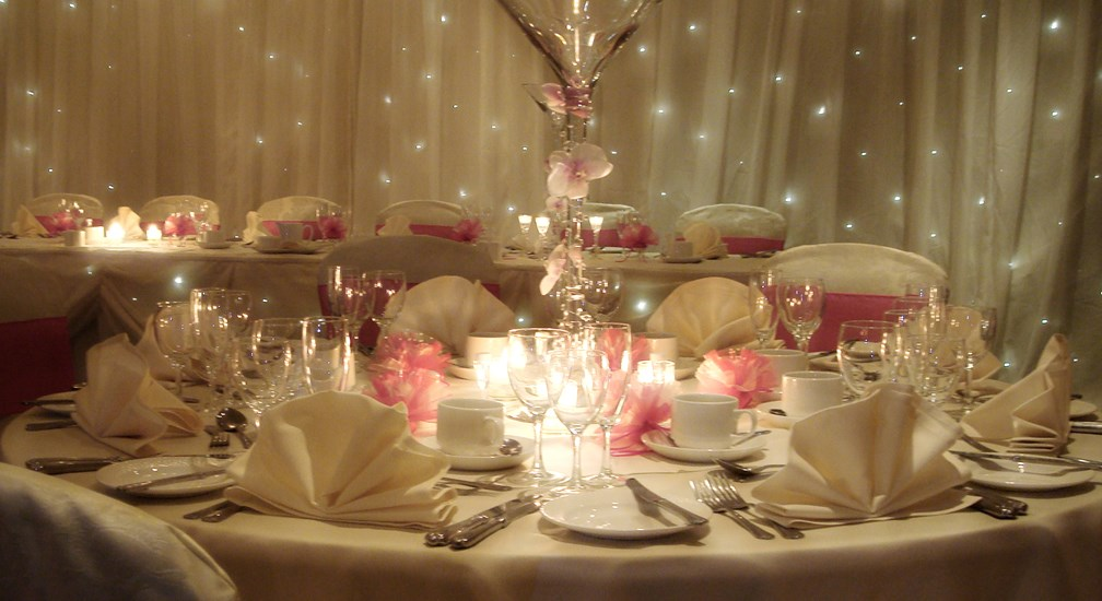 Wedding table display at Lancaster House Hotel