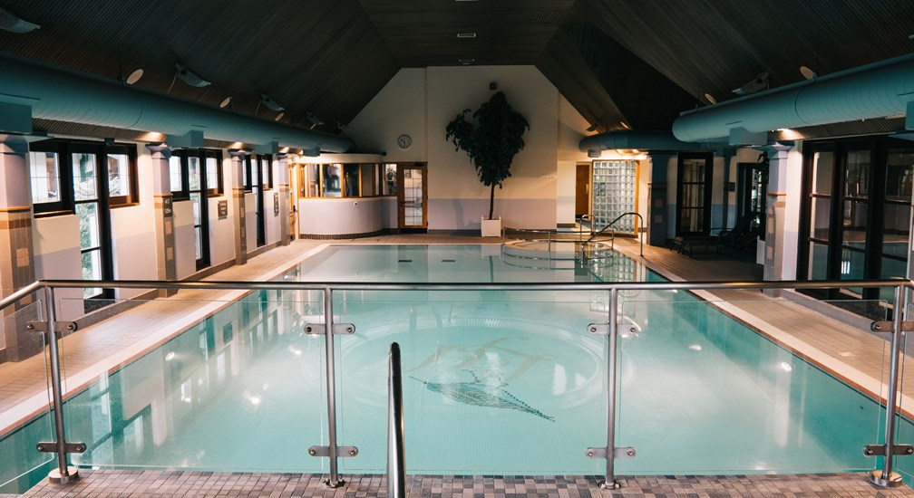 The swimming pool at Lancaster House hotel
