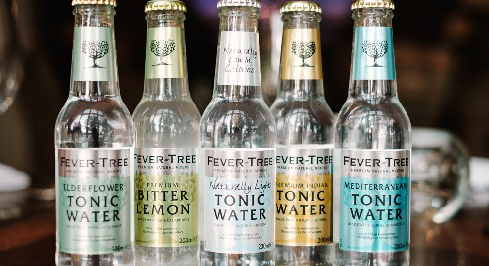 Selection Fever Tree Tonic Waters available at Waterhead Hotel