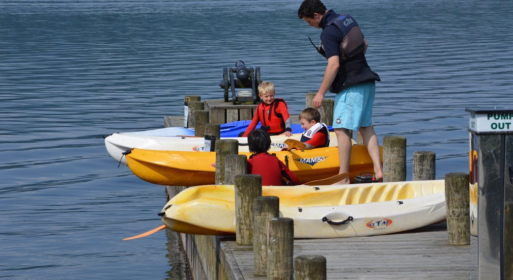 Kayaking lesson at the Low Wood Bay Marina and Watersports Centre