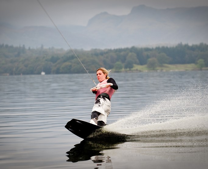 Wakeboarding on Lake Windermere