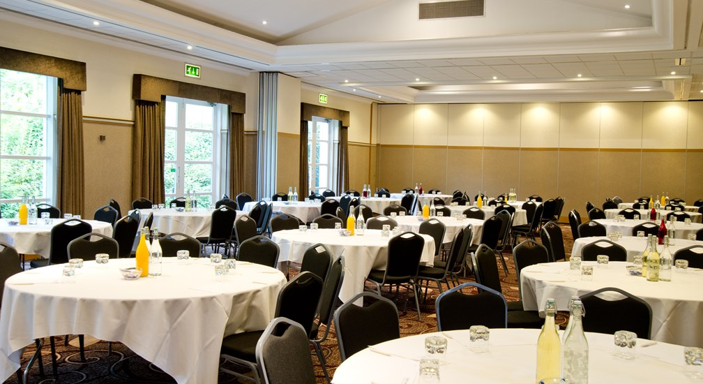 Banquet Seating in the Lakes Suite at the Low Wood Bay Conference Centre