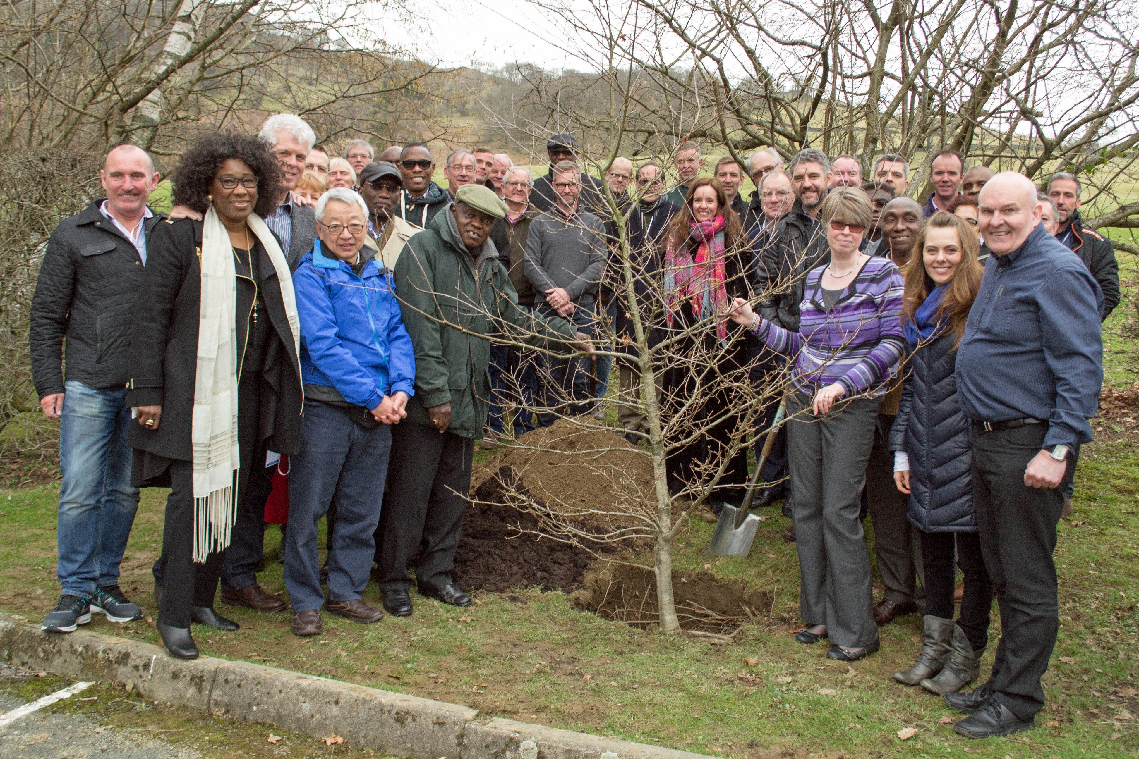 Tree planting event at Low Wood Hotel