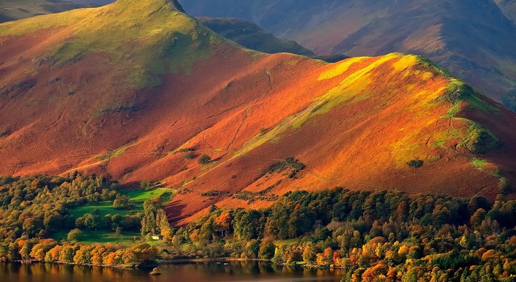 Catbells at sunset in the Lake District