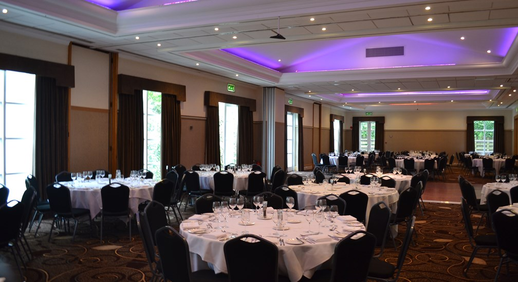 Banquet Style seating in the Lakes Suite at the Low Wood Bay Conference Centre