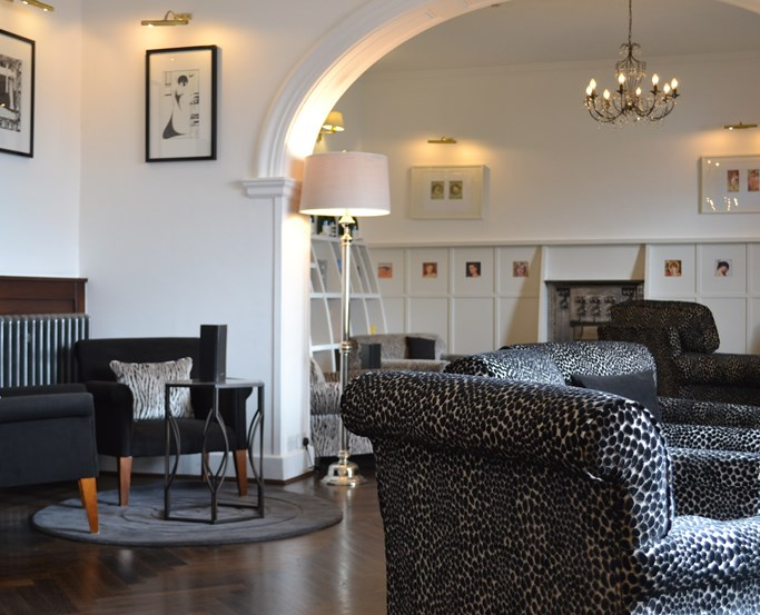The contemporary and chic surroundings of Low Wood Bay's Langdale Lounge