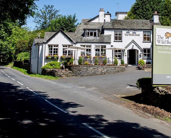 The Wild Boar Hotel near Windermere