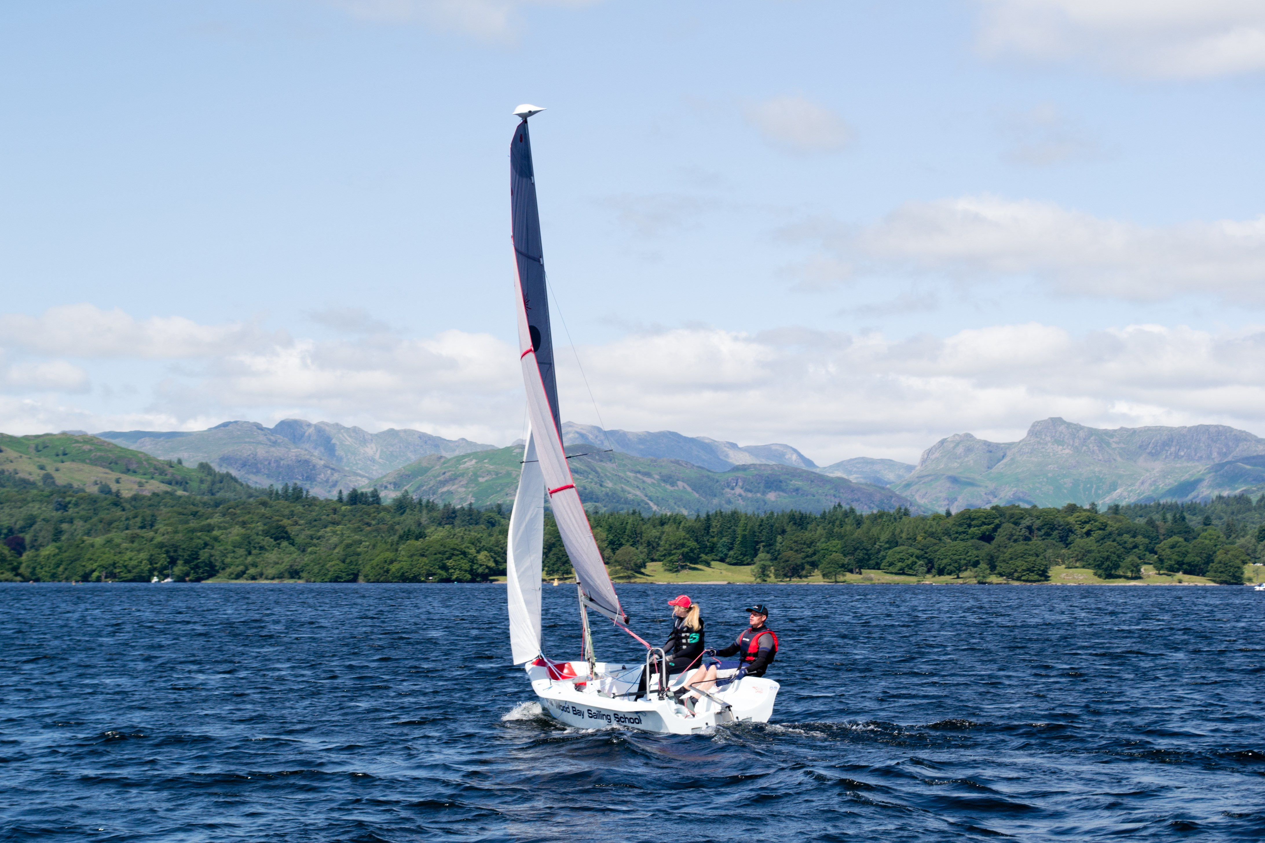 Sailing boat hire on Lake Windermere