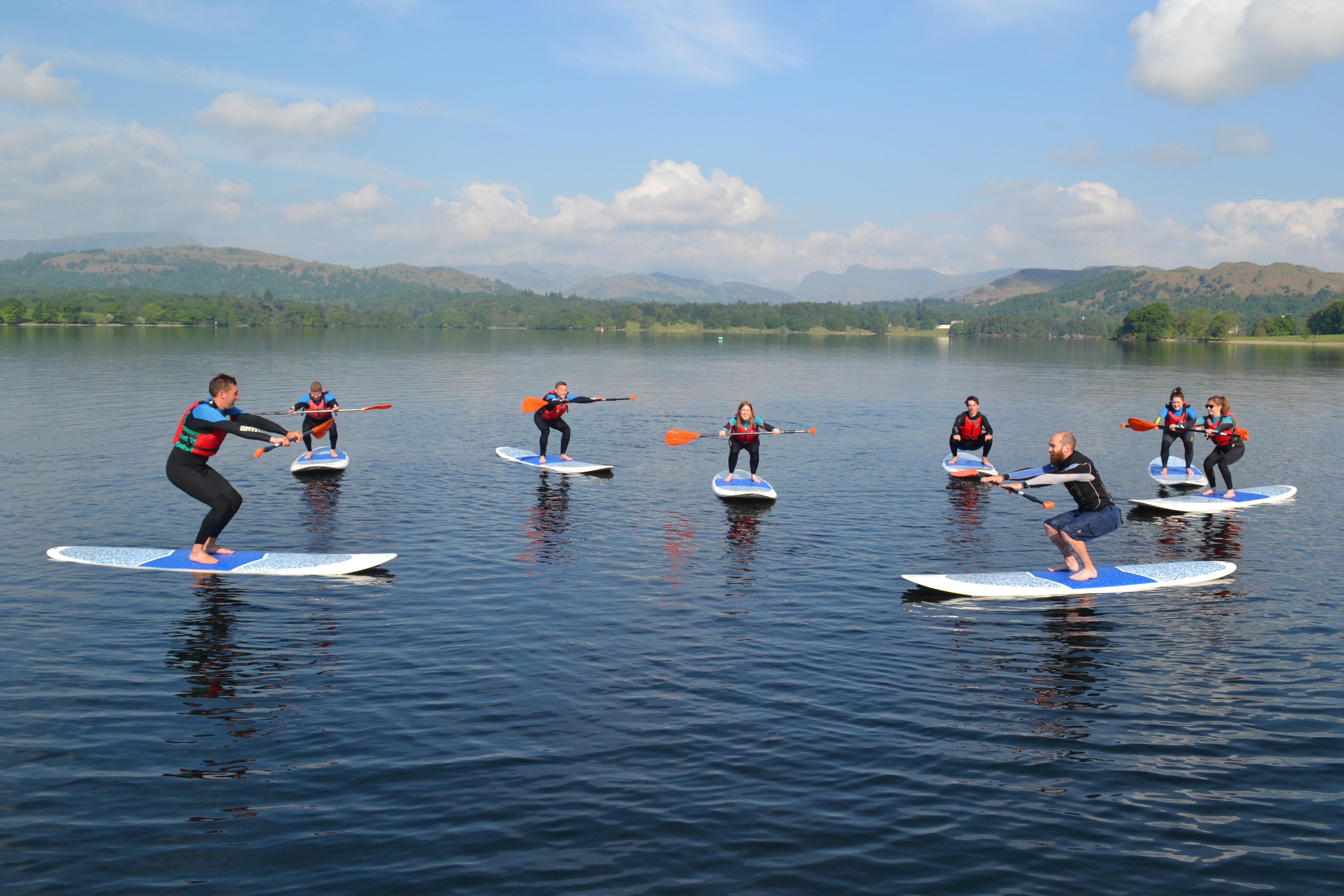 Paddle Boarding class on Lake Windermere