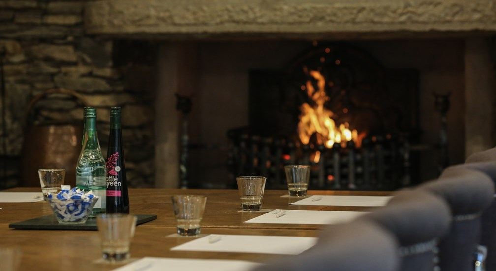 Open fire in the Under Millbeck room