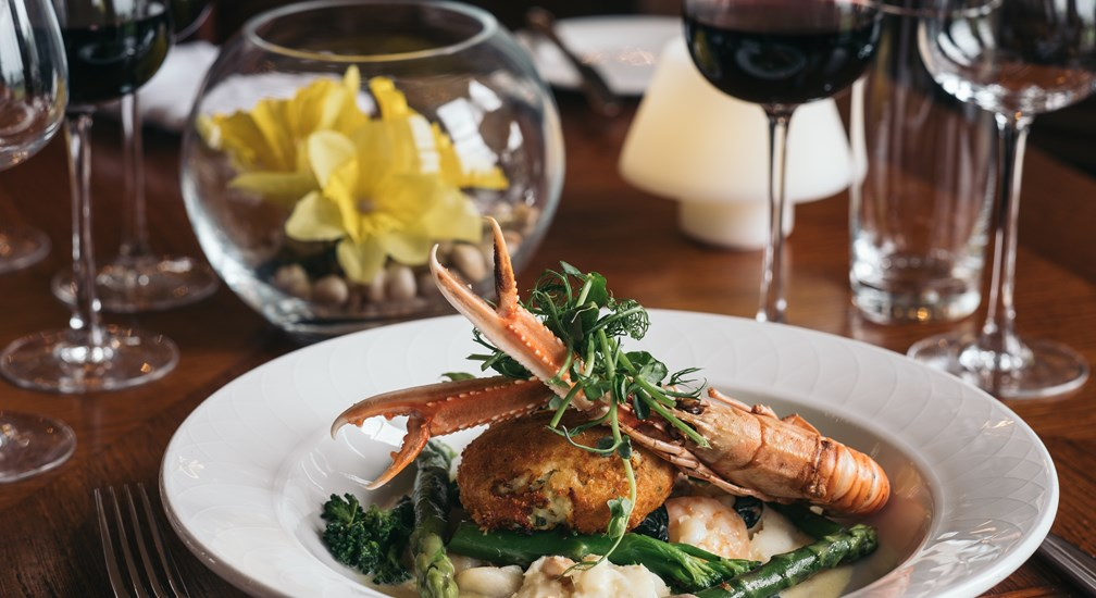 Seafood main course from The Windermere menu