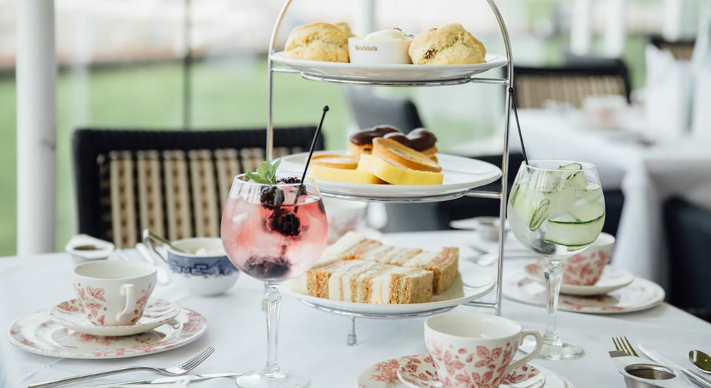 Afternoon Tea setting in The Sun Terrace Restaurant