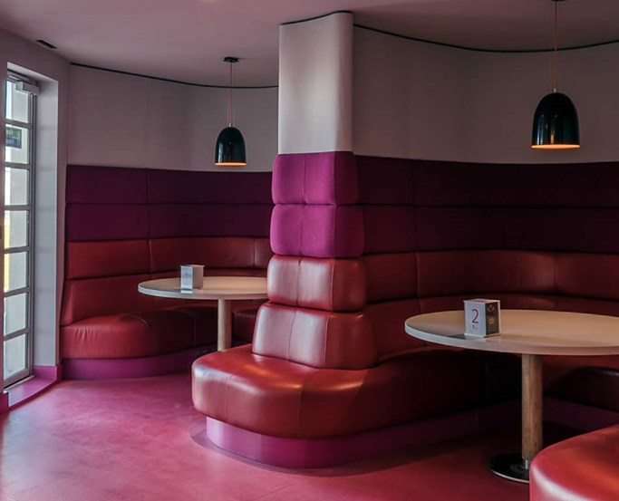 Banquette Seating in the Rotunda Bar