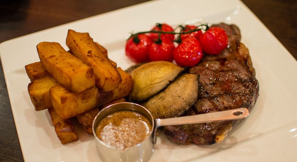 Steak and Chunky Chips - The Foodworks Restaurant at Lancaster House