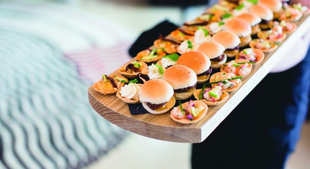 Canapes on a board - Weddings at The Midland