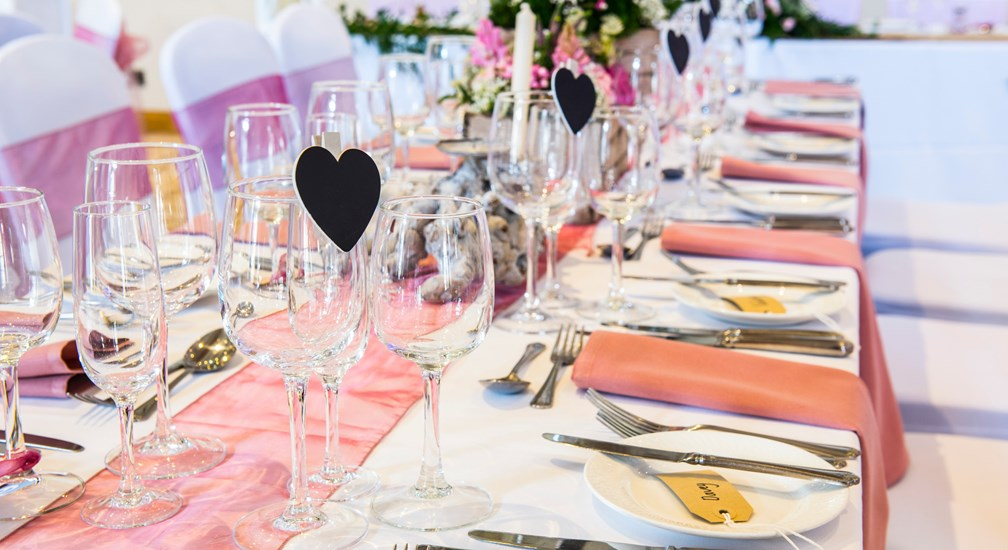 Table decorations - Wedding Breakfast at Lancaster House Hotel