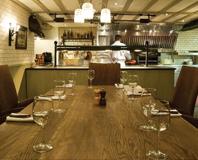 The Chefs Table at the Grill & Smokehouse Restaurant at The Wild Boar