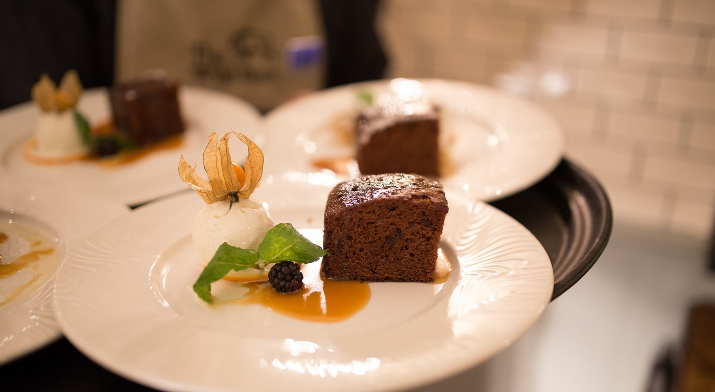 Sticky Toffee Pudding - Sample from The Wild Boar restaurant menu