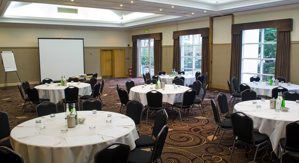 Banquest style table layout in the combined Coniston & Ullswater Rooms