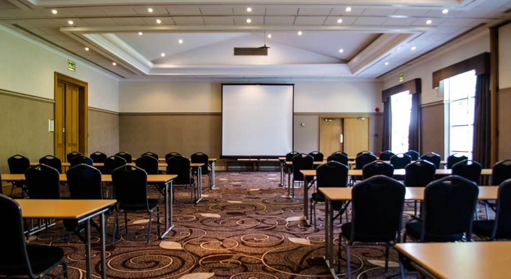 Classroom Style layout in the combined Coniston & Ullswater Conference Rooms