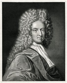A portrait of Daniel Defoe