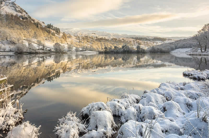 Snowy Rydal Water