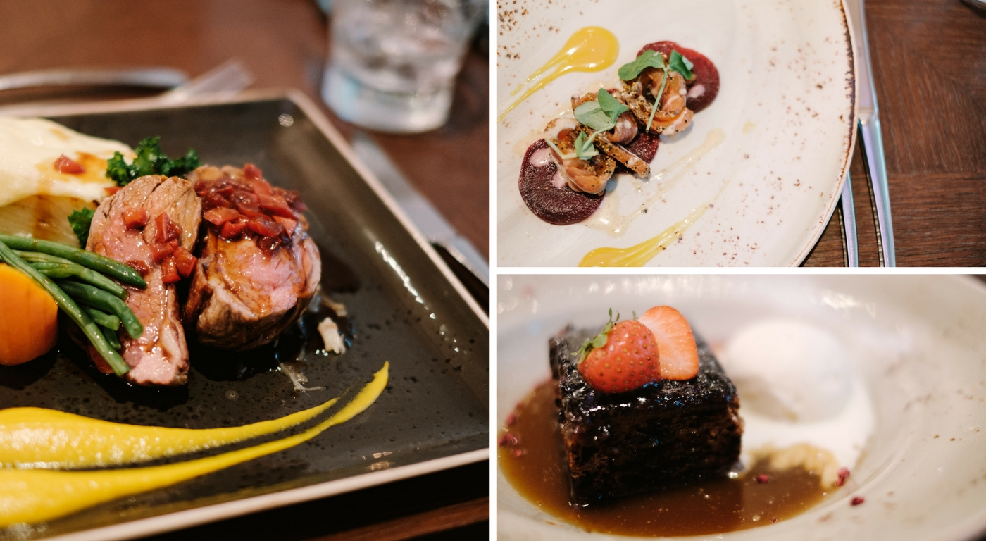 Dishes from Waterhead's Menu