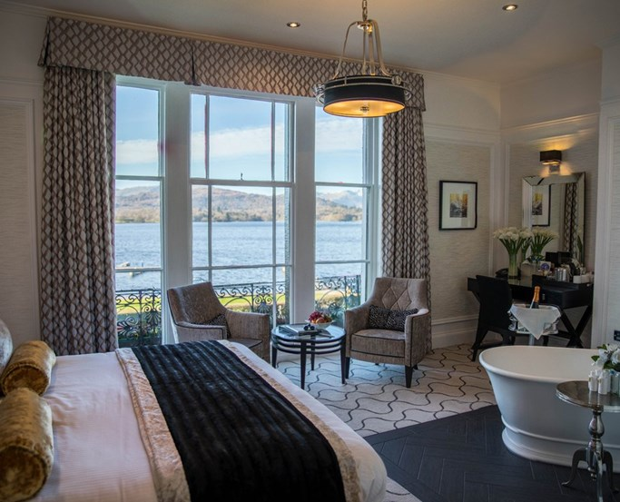 Low Wood Bay Resort & Spa - Lime Lake View Room, Windermere, Lake District Hotel