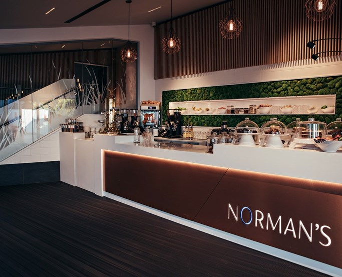 Norman's Coffee and Juice Bar at Low Wood Bay Resort & Spa, Windermere, Lake District Hotel
