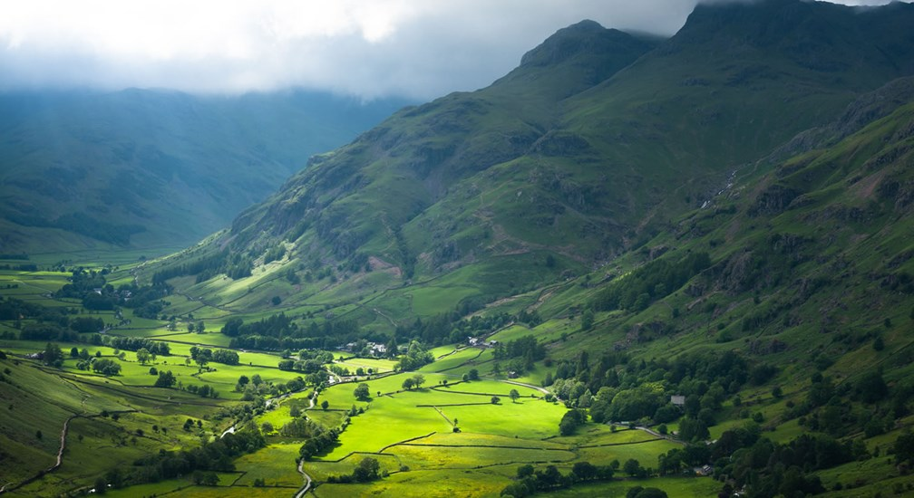 Langdale patch of sunlight