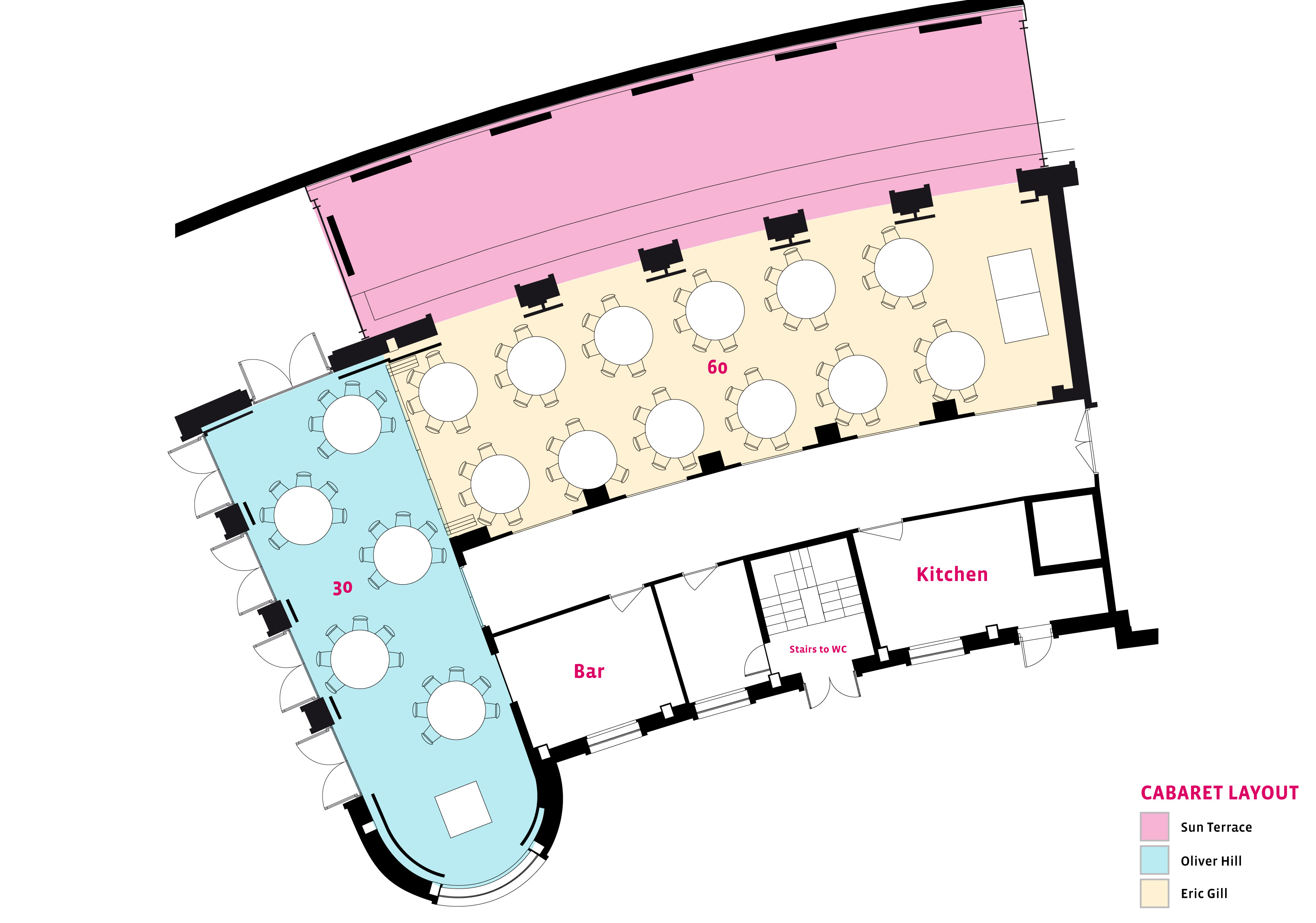 Cabaret Layout -Oliver Hill Conference Room The Midland Hotel Morecambe