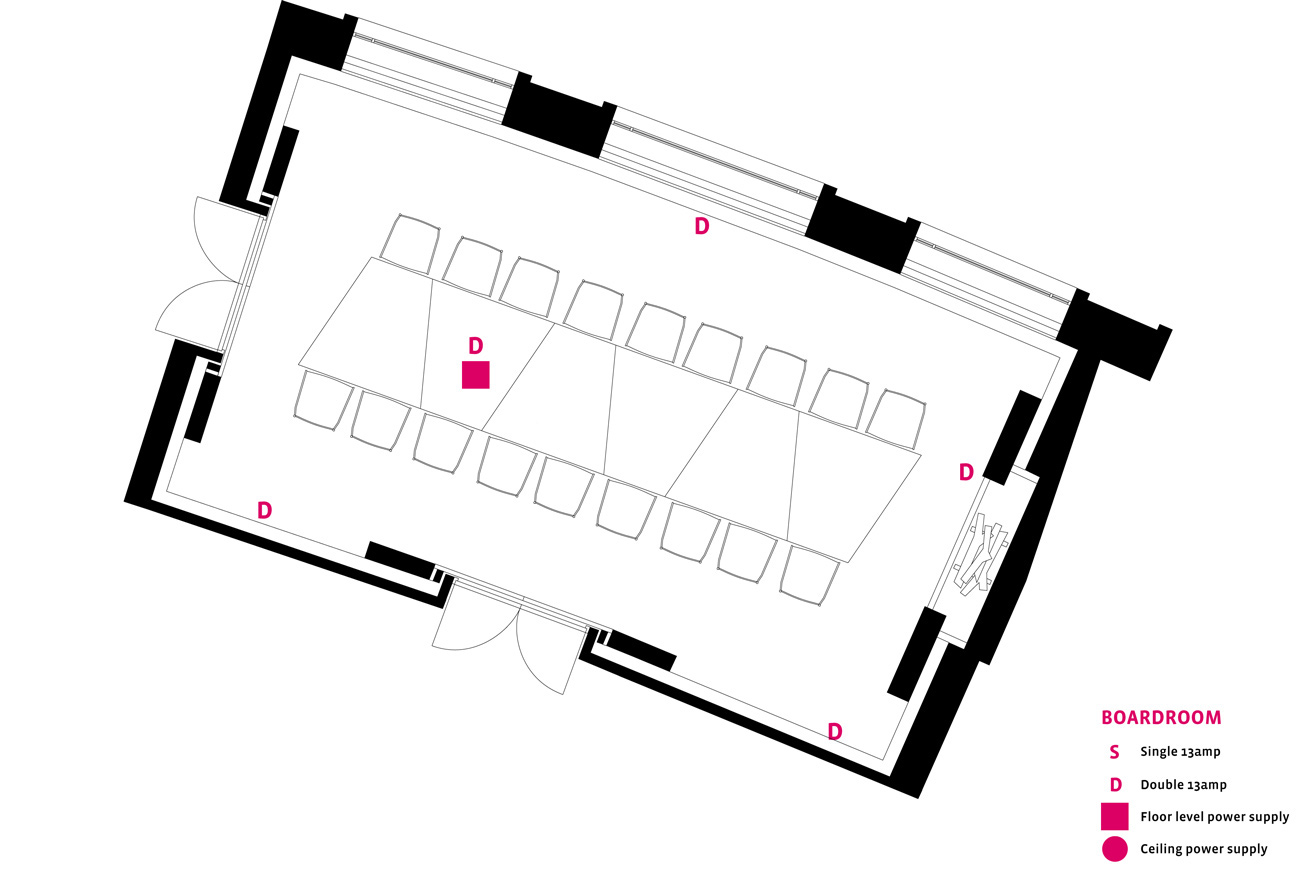 Marion Dorn Boardroom Layout - Conference Facilities at The Midland, Morecambe