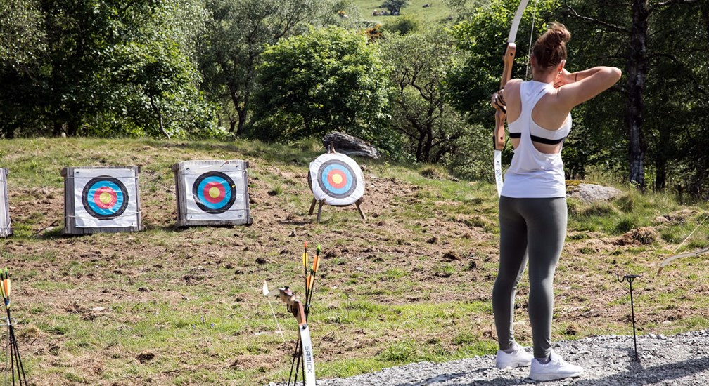 Archery at The Wild Boar Hotel Private Woodland, Lake District