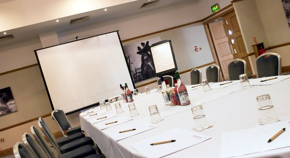 The Bowland Suite conference room in boardroom layout
