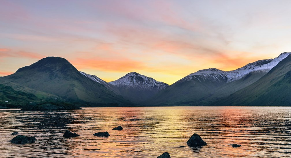 Snowy Wasdale at sunrise