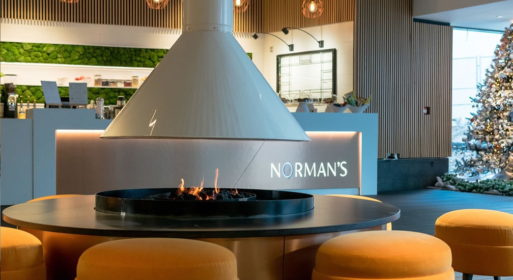 Normans with Christmas tree