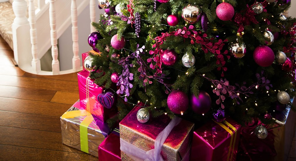 Christmas presents await at the foot of the Waterhead's Christmas Tree