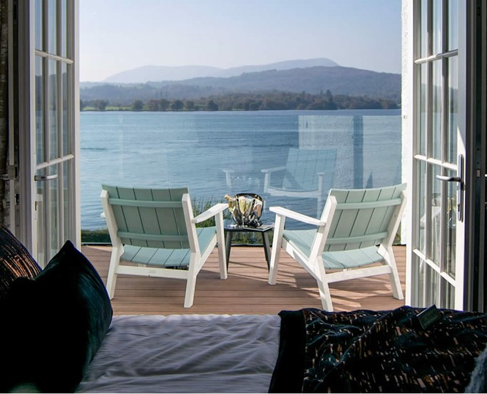 Balcony views from the Oak Suite Rooms at Low Wood Bay Resort & Spa