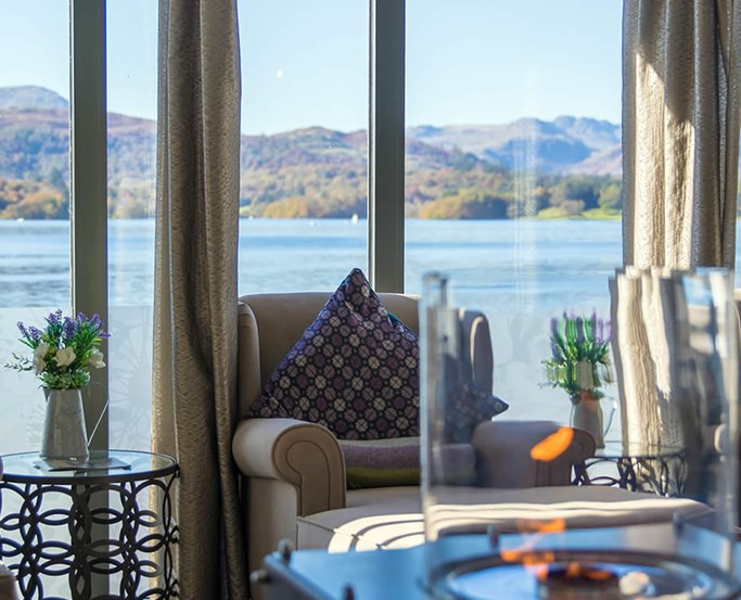 Relax in the Green Room and soak up the stunning views over Windermere from the Spa at Low Wood Bay