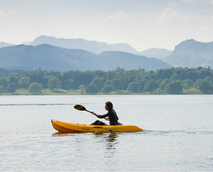 Kayaking on lake Windermere with the Watersports Centre at Low Wood Bay Resort & Spa