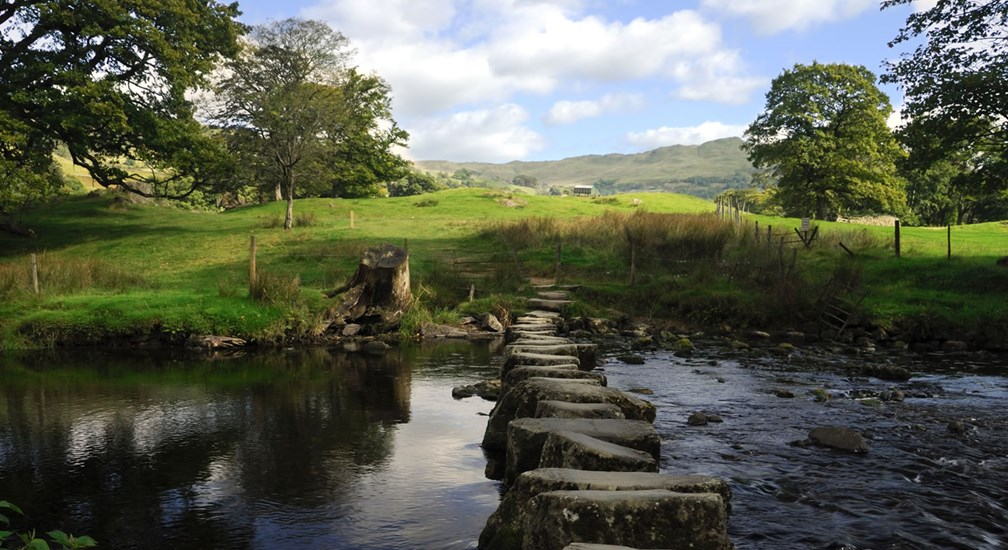 The stepping stones by Under-Loughrigg, near Ambleside in the Lake District