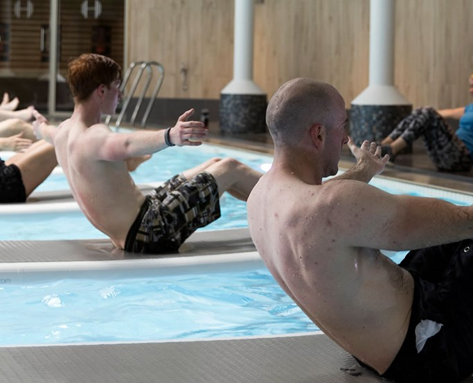 Float Fit Classes in the club pool at The Health Club at Low Wood Bay