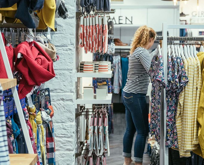 The Ambleside Joules shop interior