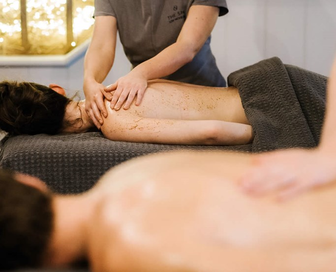 Couples back treatment at The Spa at Low Wood Bay